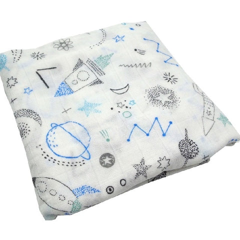 On a Rocket Ship Swaddle (100% Bamboo)