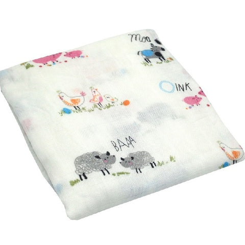 All the Farm Animals Swaddle (100% Bamboo)