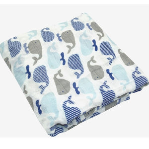 Whaling Away Swaddle (100% Bamboo)