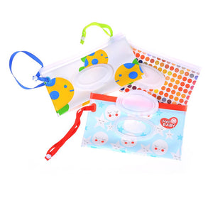 Colourful Baby Wipes Cases