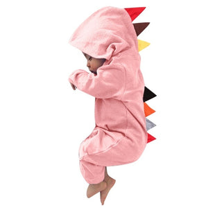 Baby Dinosaur Zipper Hooded Onesie