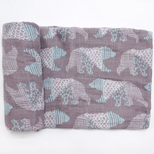 A Bear Attack Swaddle (100% Bamboo)
