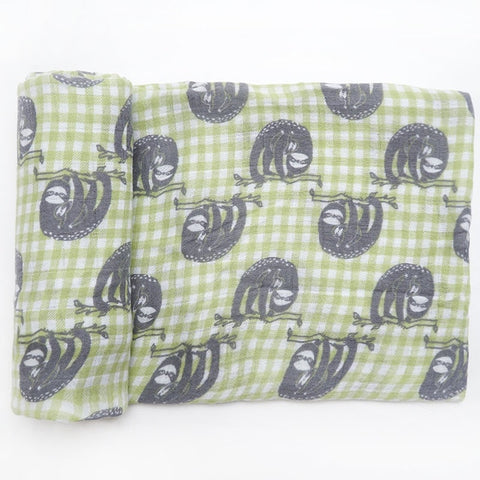 Sloth Days Swaddle (100% Bamboo)