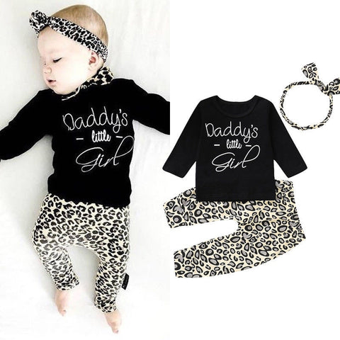Daddy's Little Girl Leopard Print Set