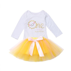 Baby Girl One Year Birthday Tutu Set