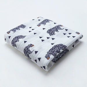 Geometric Bear Swaddle (100% Organic Cotton)