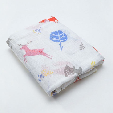 Forest Friends Swaddle (100% Organic Cotton)