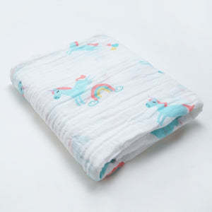 Unicorn and The Rainbow Swaddle (100% Cotton)