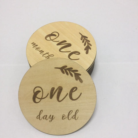 Wooden Milestone Cards for Newborn