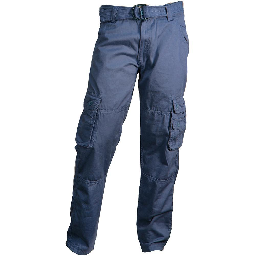 V1947 CARGO TWILL PANTS WITH BELT - Yabu Fashion