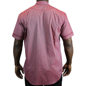 V436 SOLID SLUB WOVEN SHIRT - Yabu Fashion