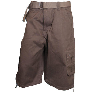 V799 BASIC CARGO SHORTS W/ BELT - Yabu Fashion