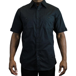 V952 SOLID SHORT SLEEVE SHIRT - Yabu Fashion