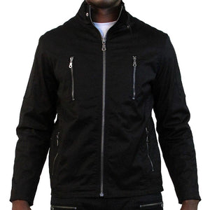 M1065 MAKOBI BIKER JACKET - BLACK - Yabu Fashion