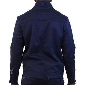 M1065 MAKOBI BIKER JACKET - NAVY - Yabu Fashion