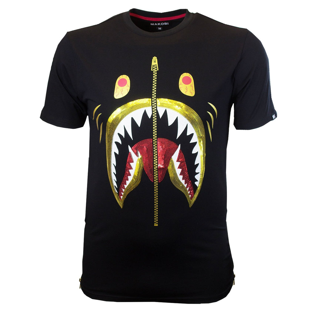 M106 MAKOBI SHARKO TEE - BLACK - Yabu Fashion