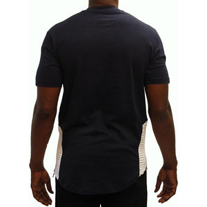 M115 MAKOBI BIKER TEE - NAVY/WHITE - Yabu Fashion