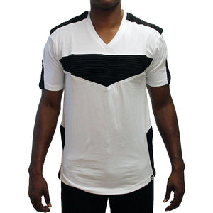 M115 MAKOBI BIKER TEE - WHITE/BLACK - Yabu Fashion