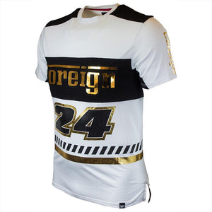 M133 MAKOBI FOREIGN JERSEY - WHITE/BLACK - Yabu Fashion