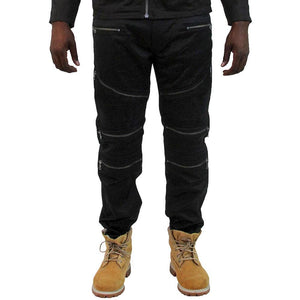 M1772 MAKOBI BIKER JEANS BLACK - Yabu Fashion