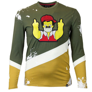 M209 MAKOBI EL CHAPO SIMPSON LONG SLEEVE TEE - OLIVE - Yabu Fashion
