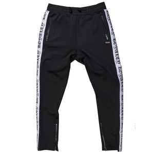 M2799 MAKOBI ROYALTY TRACK PANTS - BLACK/WHITE - Yabu Fashion