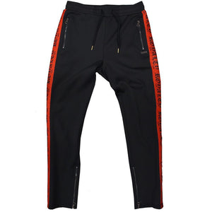 M2799 MAKOBI ROYALTY TRACK PANTS - BLACK/RED - Yabu Fashion