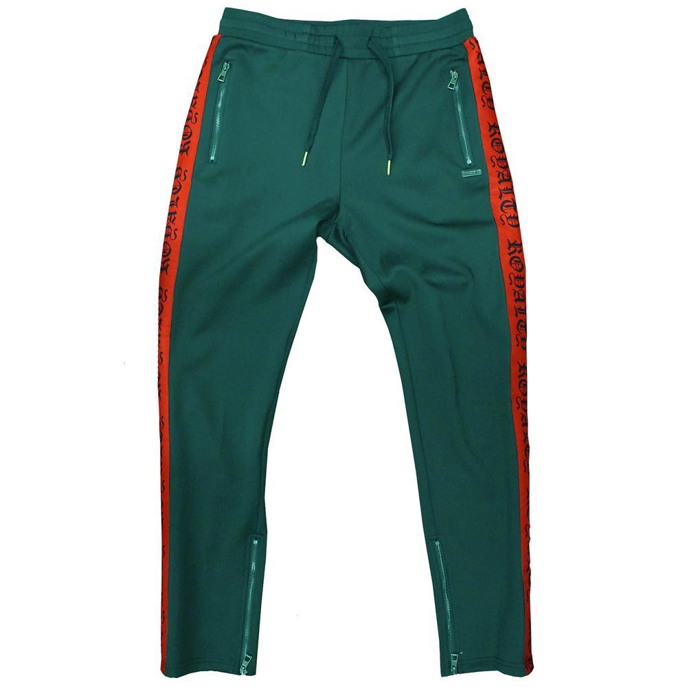 M2799 MAKOBI ROYALTY TRACK PANTS - GREEN/RED - Yabu Fashion