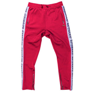 M2799 MAKOBI ROYALTY TRACK PANTS - RED - Yabu Fashion