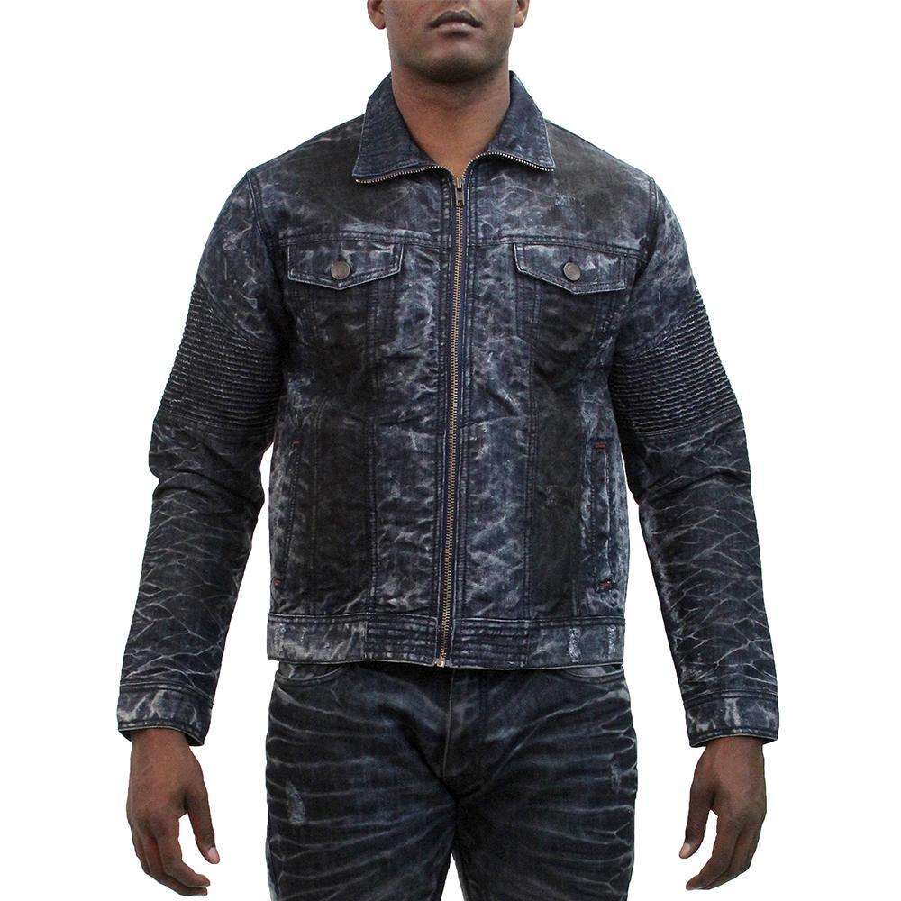 V1075 VENO SANDED BIKER JACKET - Yabu Fashion