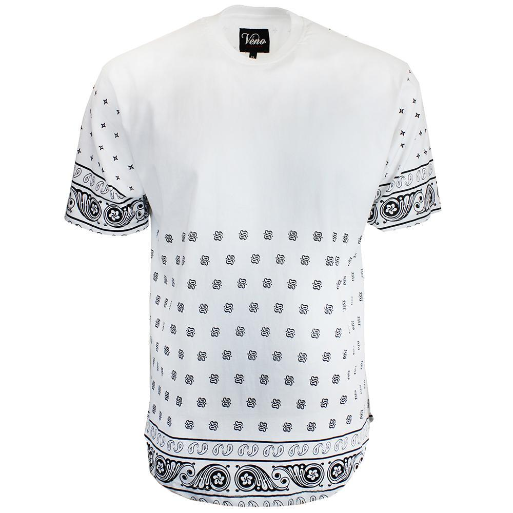 V166 BANDANA DUCKTAIL PRINT TEE - Yabu Fashion