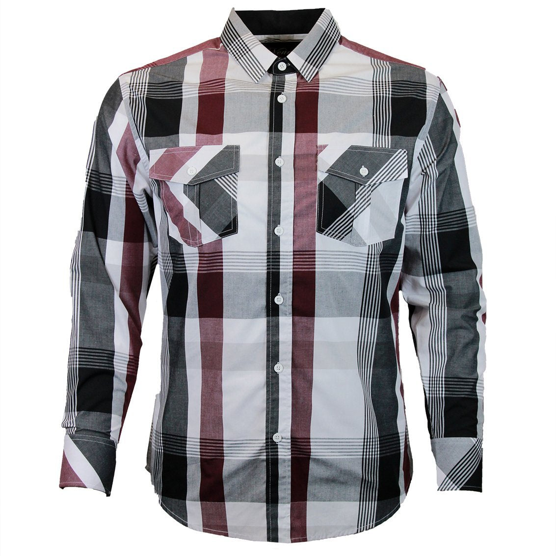 V1807 VENO LONG SLEEVE PLAID SHIRT - Yabu Fashion