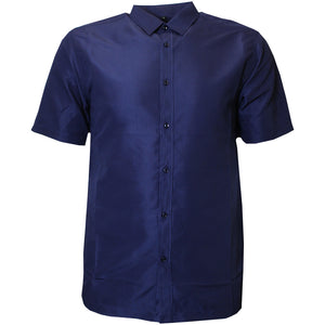 V900 VENO POLY SOLID SHIRT - NAVY - Yabu Fashion