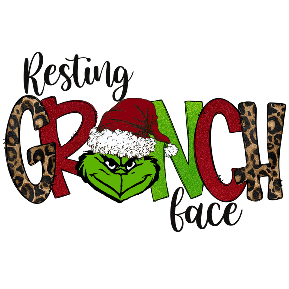 Resting Grinch FaceDesign Transfer