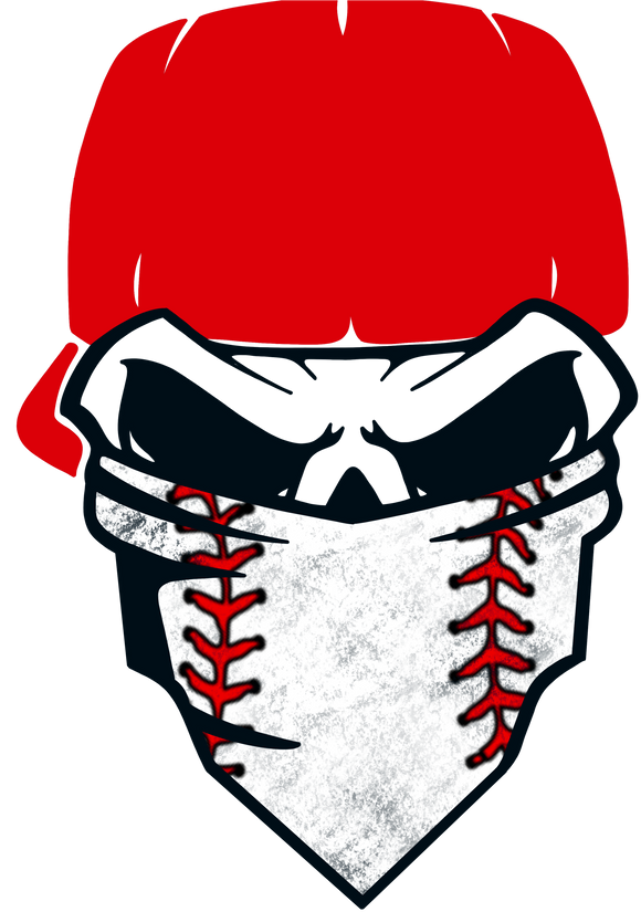 Baseball Dad Skull Design Transfer