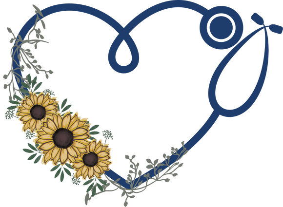 Heart Stethoscope Sunflower