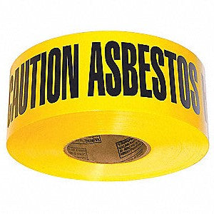 Asbestos Caution Tape. 500m Roll Yellow/Black