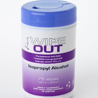 Alcohol Wipes Isopropyl 75 wipes/Canister