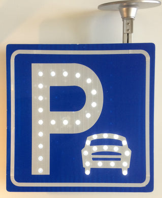 Solar LED Square Parking Flashing Sign