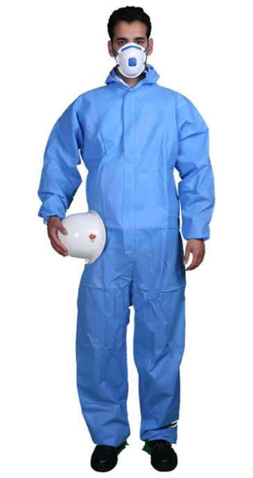 SMS Disposable Coveralls White or Blue. 50 Suits / Box. * NOTE: PRICE PER BOX
