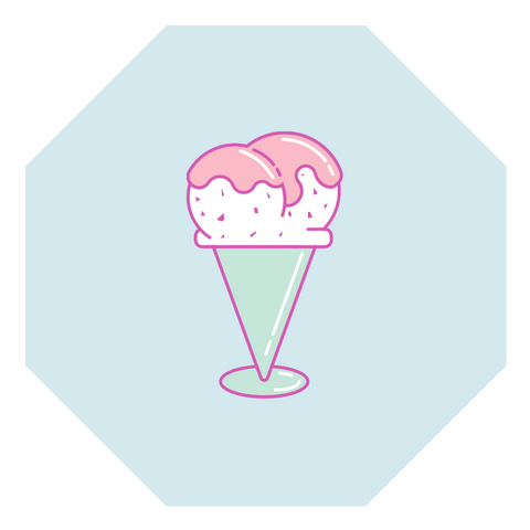 vegan ice cream illustration