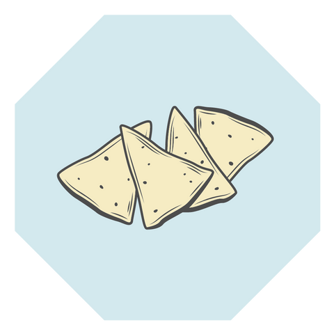 corn chip illustration