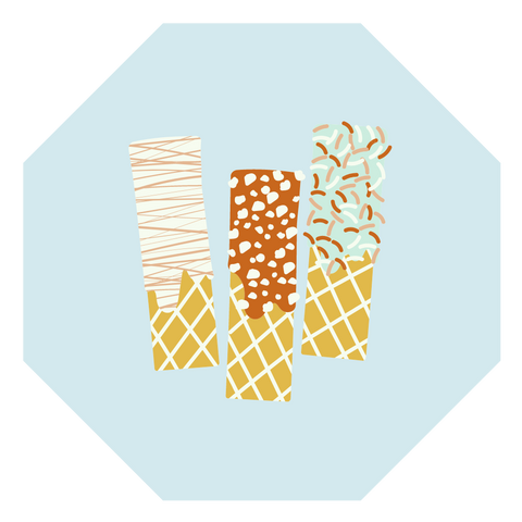 vegan wafers illustration