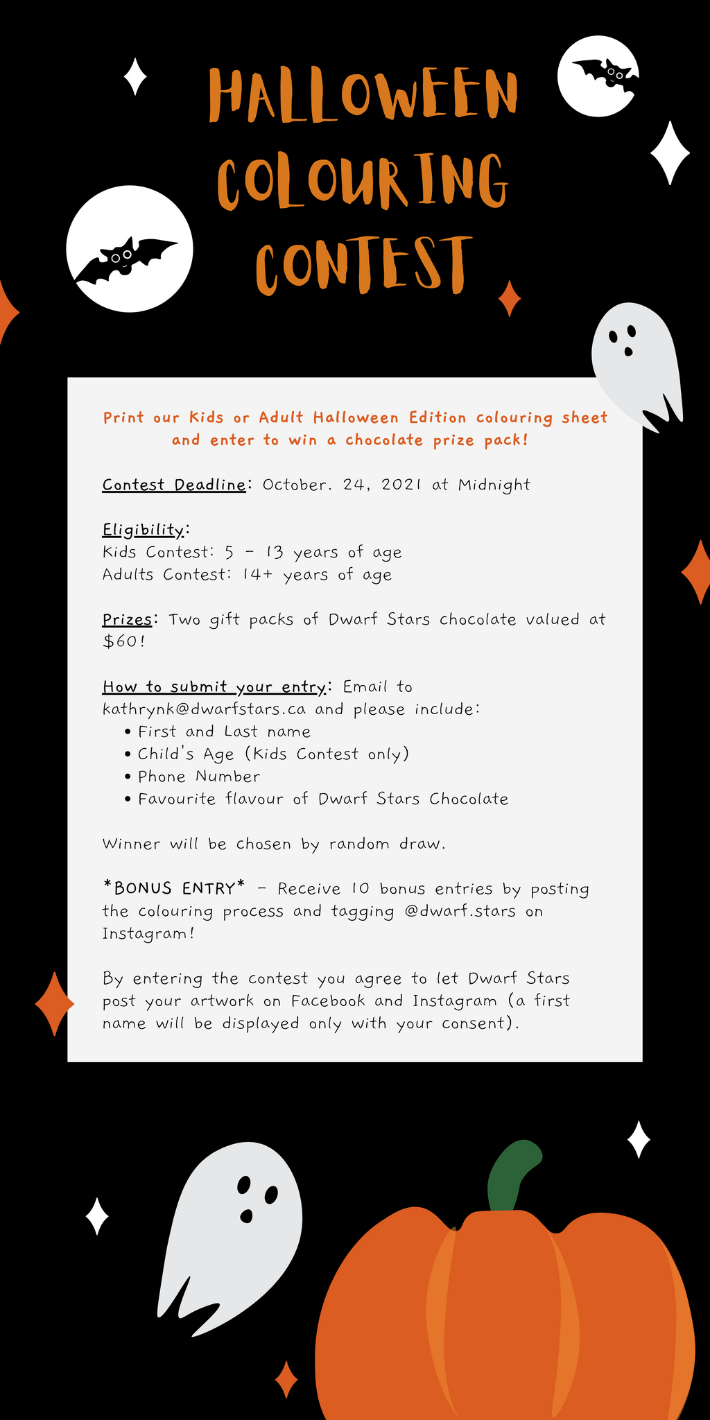 Halloween Colouring Contest Rules