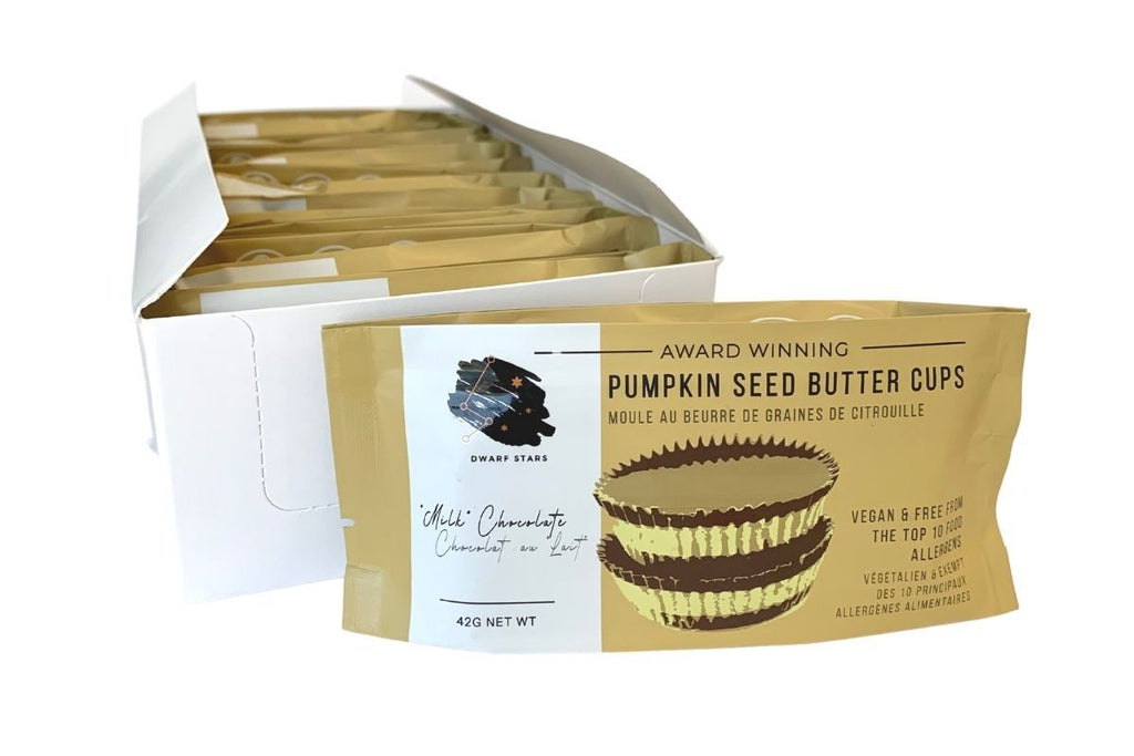 Case of Vegan Milk Chocolate Pumpkin Seed Butter Cups