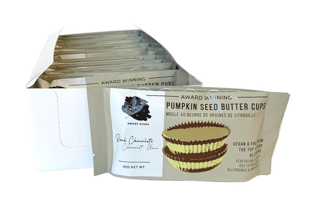 Case of Vegan Dark Chocolate Pumpkin Seed Butter Cup