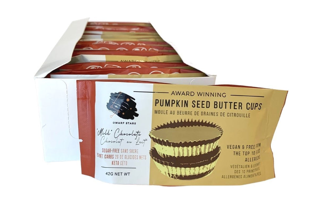 Vegan & Keto Sugar Free Milk Chocolate Pumpkin Seed Butter Cups - CASE