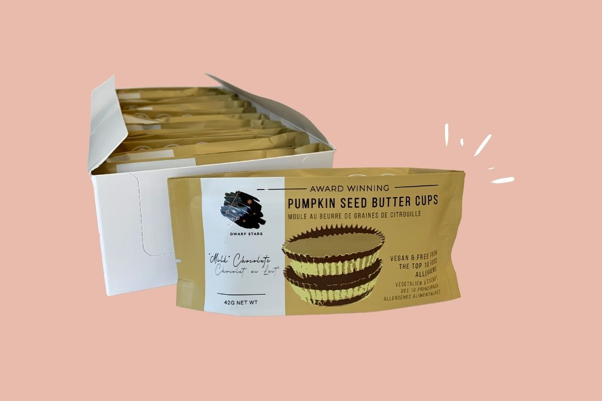 Vegan Pumpkin Spice White Chocolate Pumpkin Seed Butter Cups