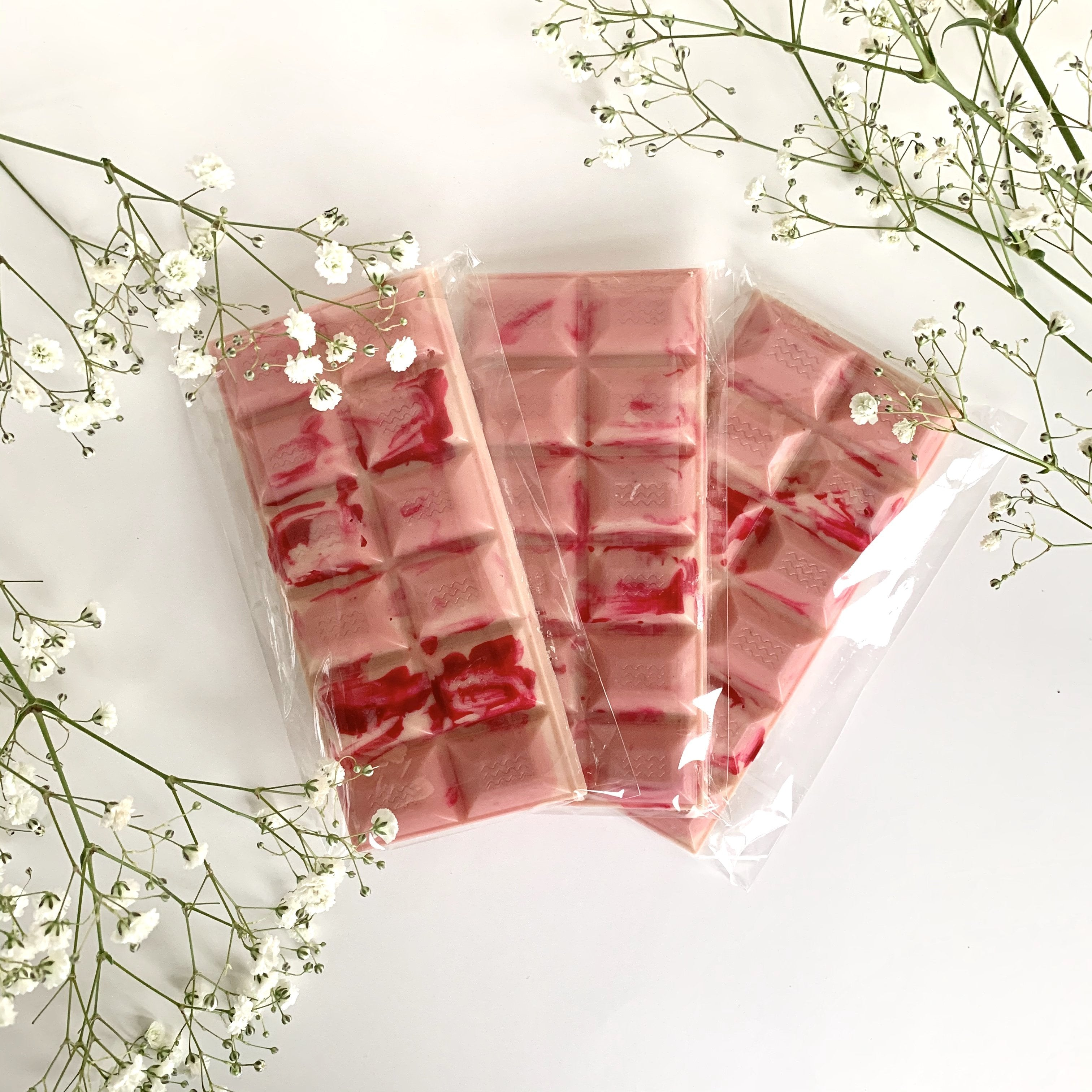Strawberries & Creme Vegan White Chocolate Bar - Artisan Chocolate