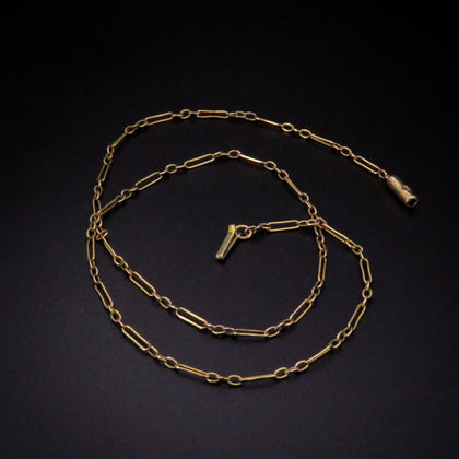 "9K Antique Gold Necklace (14.5"")"